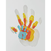 Family Touch Baby Art White